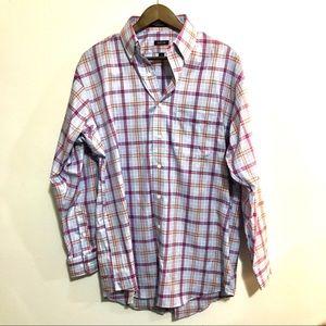OVERTON men's plaid button up shirt